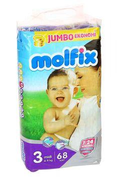 Molfix  подгузники Jumbo 3 (4-9 кг) (68 шт.)