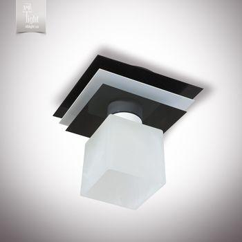 купить N&B Light Люстра Пиастра 10111-2 черный глянец/белый глянец в Кишинёве
