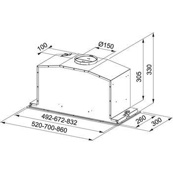 купить Вытяжкa Franke Box Plus Glass FBI 737 XS/BK Inox satinat – finisaj cristal negru в Кишинёве