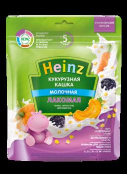 Каша HEINZ Лакомая кукурузная тыква, чернослив и морковочка 170г (5 месяцев)