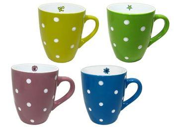 купить Чашка керамическая с белыми точками в Кишинёве