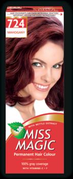 Краска для волос,SOLVEX Miss Magic, 90 мл., 724 - Махагон