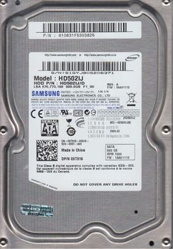 ".500Gb HDD 3.5"" Samsung 500Gb HD502IJ SpinPoint F1, 7200rpm, 16Mb, SATA2"