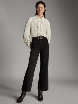 Блуза Massimo Dutti Слоновая кость 5111/529/251