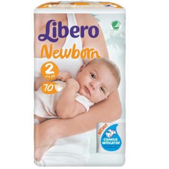 купить Libero подгузники Newborn 2, 3-6кг 70 шт в Кишинёве
