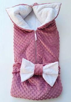 Конвертик трансформер PAMPY плюш Dark Pink