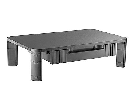 Brateck AMS-9 Particle Board Modular Multi-Purpose Riser with Drawer, Black, Height Range: 100/130mm, Weight Capacity 20kg