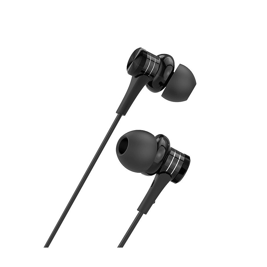 Borofone BM22 black (095446) Boundless universal earphones with mic, Speaker 10mm, Cable length 1.2m, Microphone, support for Apple and Android