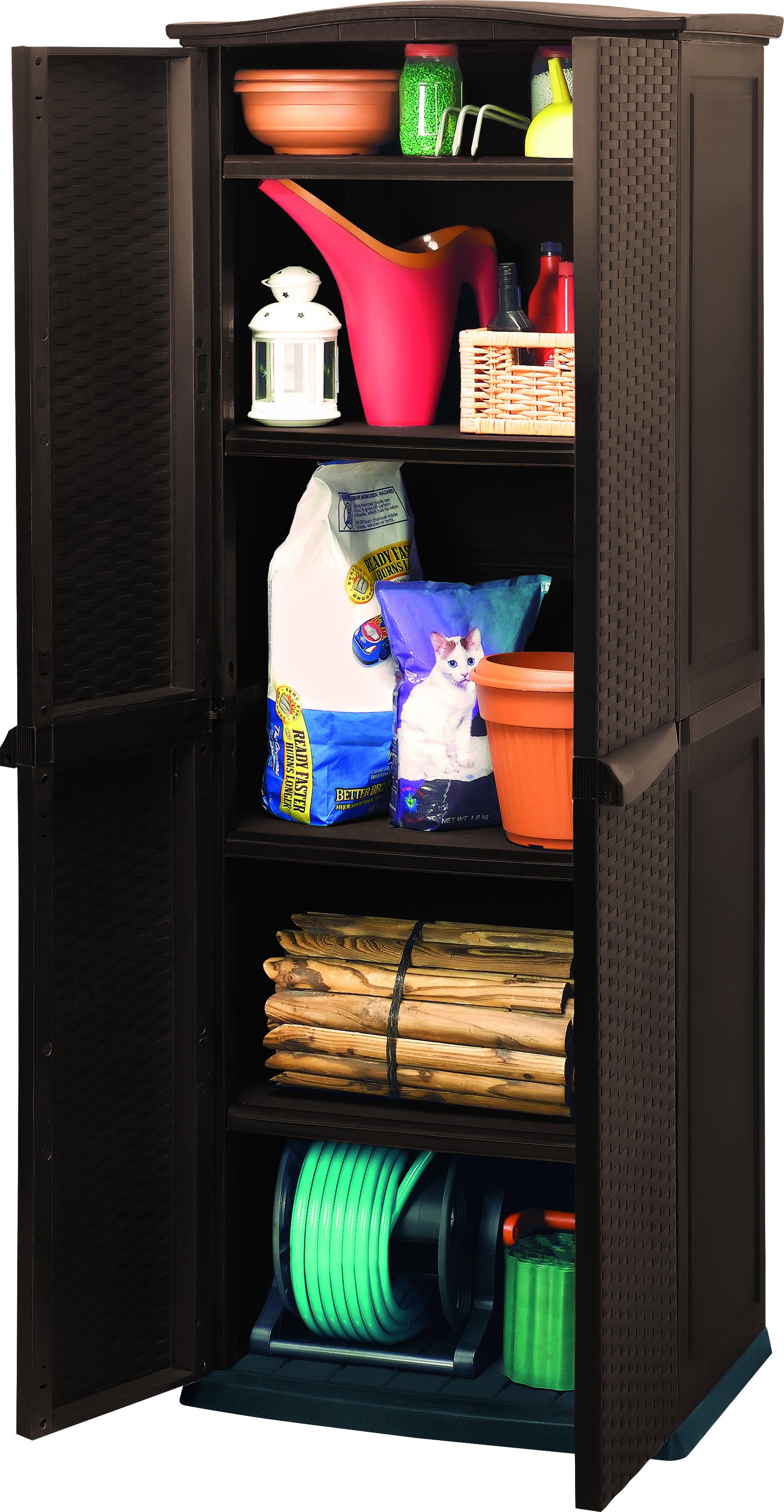 Keter хозяйственный шкаф utility 4 shelves под ротанг - купи.