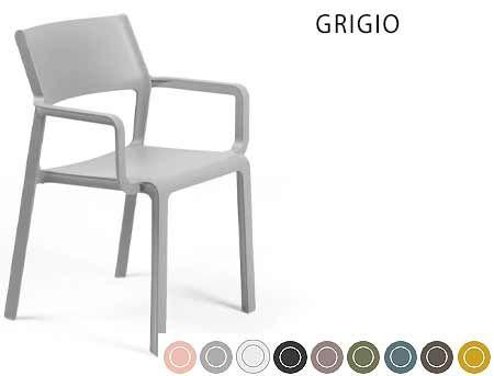 Fotoliu de gradina / de exterior Nardi TRILL ARMCHAIR (9 culori)