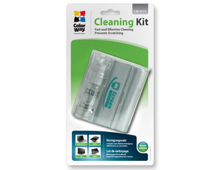 ColorWay CW-4111 LCD Screen Compact Cleaning Kit Spray + Cloth Microfiber