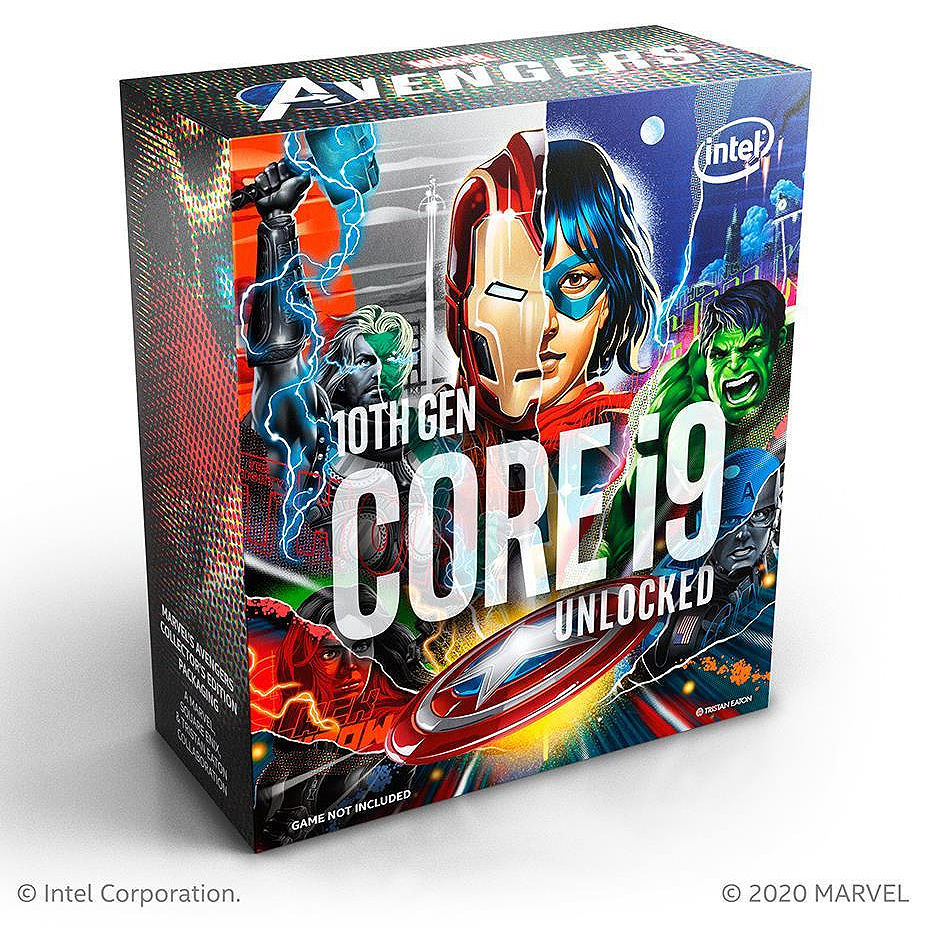 Процессор CPU Intel Core i9-10850KA Avengers Limited Edition 3.6-5.2GHz 10 Cores 20-Threads, (LGA1200, 3.6-5.2Hz, 20MB, Intel UHD Graphics 630) BOX no Cooler, BX8070110850KA (procesor/процессор)