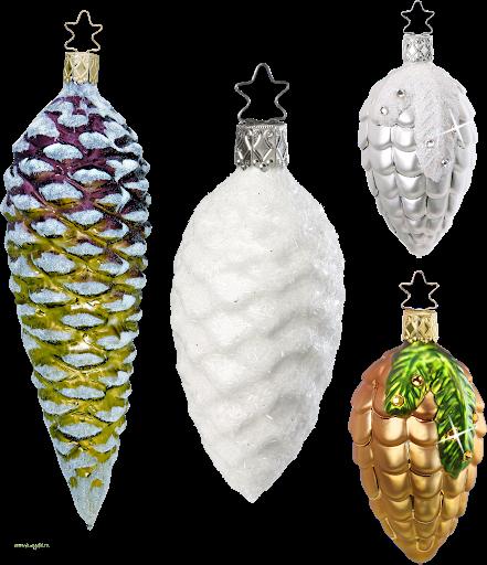 Ирушки-подвески на елку пластиковые