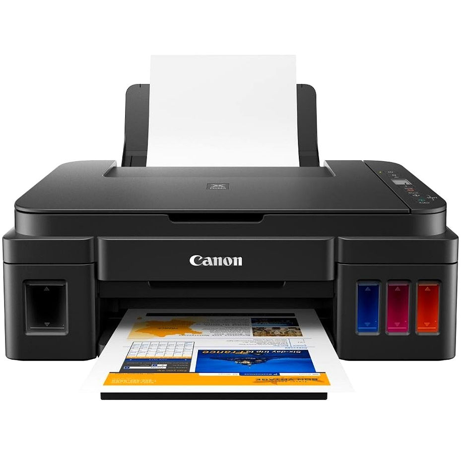 MFD CISS Canon Pixma G2415, Color Printer/Scanner/Copier, A4, 4800x1200dpi_2pl, ISO/IEC 24734 - 8.8 / 5.0 ipm, 64-275g/m2, LCD display_6.2cm, Rear tray: 100 sheets, USB 2.0, 4 ink tanks: GI-490BK (6 000 pages*),GI-490C,GI-490M,GI-490Y(7 000 pages*)