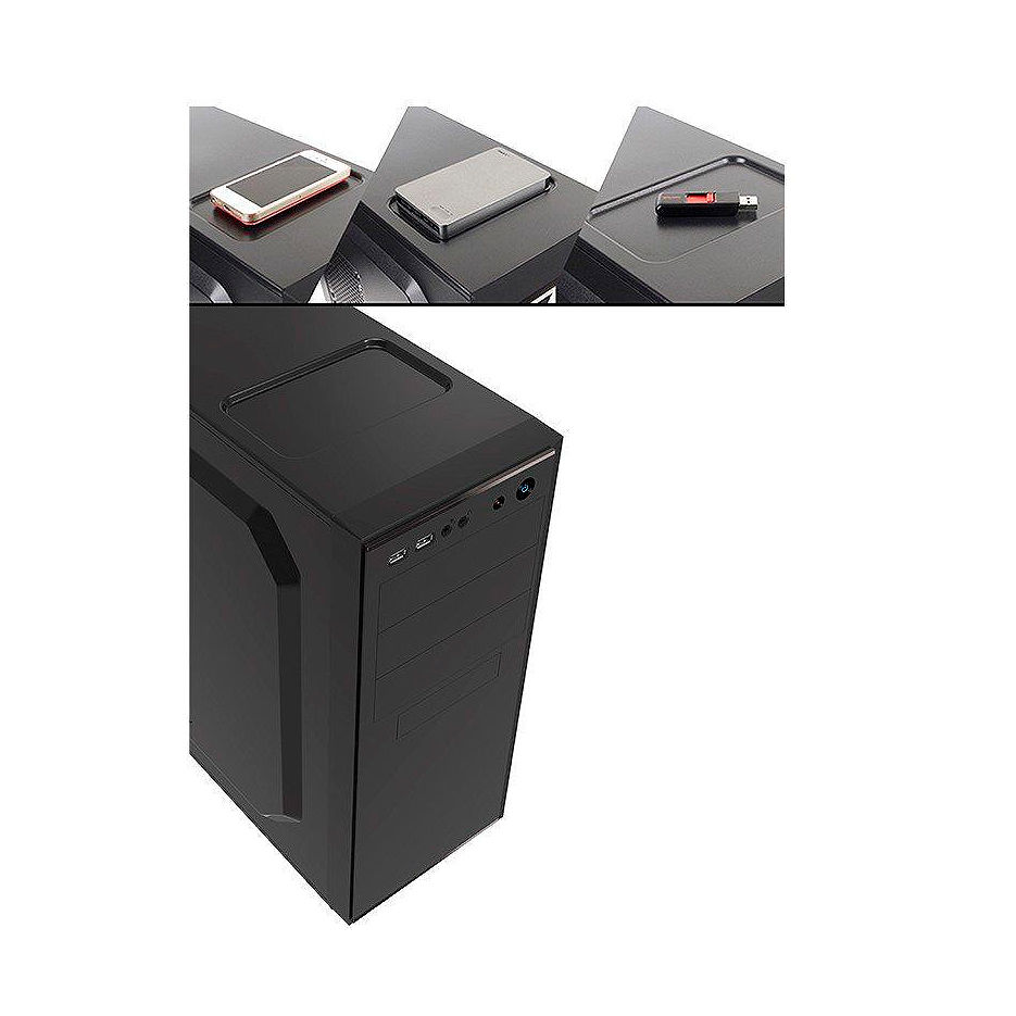 Case Miditower ATX Sohoo 5907BG Black-Green, 500W, 12cm fan, 24 pin, 2xSATA cables, 2xUSB 2.0 & Audio (carcasa/корпус)