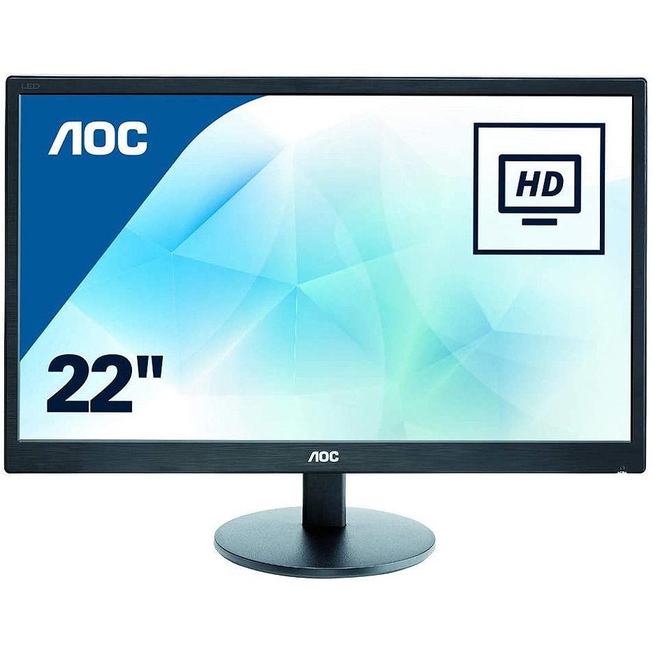 """Монитор 21.5"""" TFT WLED AOC E2270SWDN WIDE 16:9, 0.248, 5ms, Contrast (dynamic) 20,000,000:1, Contrast (static) 700:1, H:30-83kHz, V:50-76Hz, 1920x1080 Full HD, DVI/D-Sub (monitor/монитор)"""