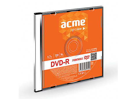 ACME DVD-R 4,7 GB 16X Slim Box printable