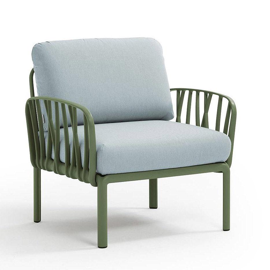 Кресло с подушками для сада и терас Nardi KOMODO POLTRONA AGAVE-ghiaccio Sunbrella 40371.16.138