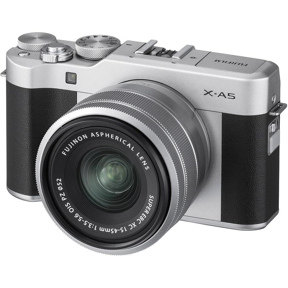 Fujifilm X-A5 Silver XC15-45mm kit, Mirrorless Digital Camera X System ( Aparat fotografic )