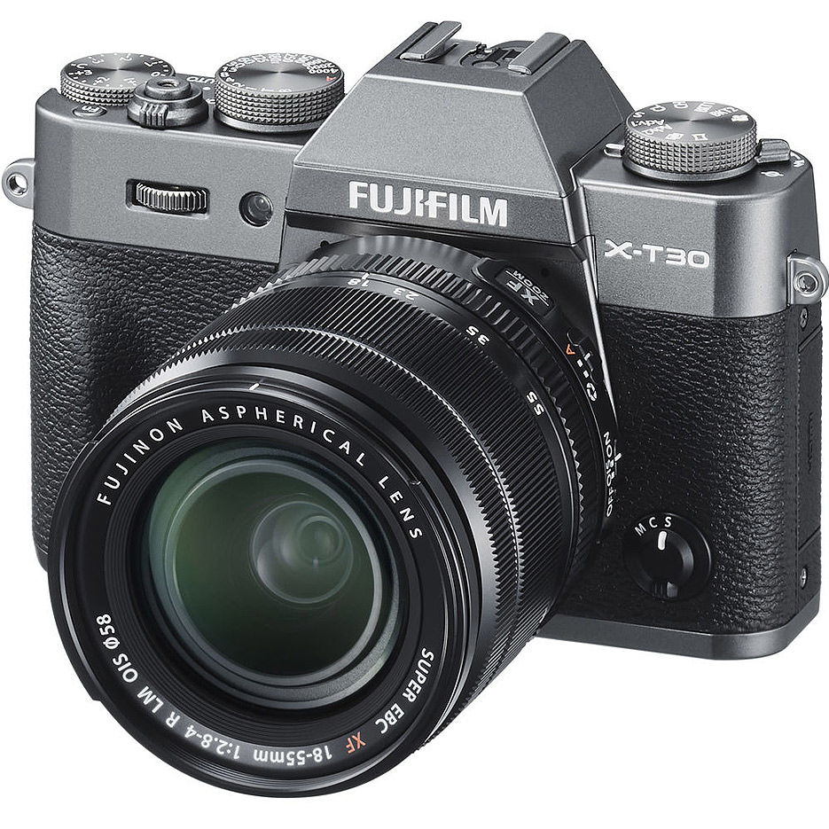 Fujifilm X-T30 silver XF18-55mm Kit, Mirrorless Digital Camera Fujifilm X System (Aparat fotografic)