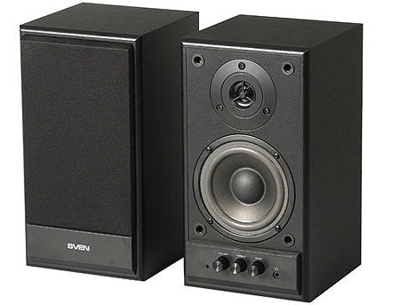 Active Speakers SVEN SPS-702 Black Leather, RMS 40W, 2x20W, дерево