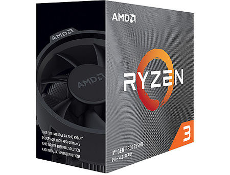 CPU AMD Ryzen 3 3100 4-Core, 8 Threads, 3.6-3.9GHz, Unlocked, 18MB Cache, AM4, Wraith Stealth Cooler, BOX