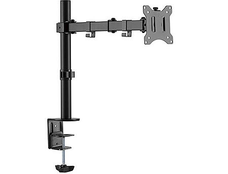 "Brateck LDT42-C012 Single Monitor Steel Articulating Monitor Arm, for 1 monitor, Clamp-on, 17""-32"", +45"