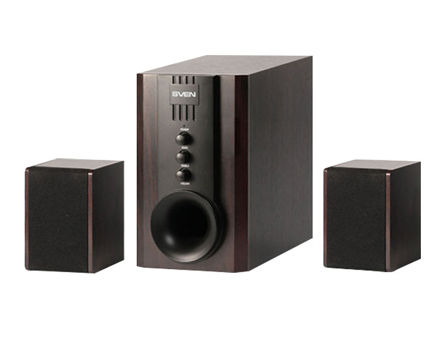 Active Speakers SVEN SPS-821 All Wooden/Black ( 2.1 surround, RMS 40W, 20W subwoofer, 2x10W Satellites ) (boxe sistem acustic/колонки акустическая сиситема)