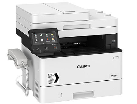 Canon i-Sensys MF445dw Mono Printer/Copier/Color Scanner/Fax, A4, Duplex, Duplex ADF(50-sheets), WiFi, Network Card, 1200x1200 dpi with IR (600x600dpi), 38 ppm, 1GB, PostScript, USB 2.0, Cartridge 057 (3100p.)/057H (10000p.),