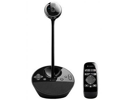Logitech BCC950 ConferenceCam, Webcam Full HD 1080p 30fps video, Motorized pan, tilt and zoom, Speakerphone 220 Hz - 20 kHz, Remote for groups of 1-4, 960-000867
