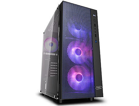 Case Middletower Deepcool MATREXX 55 MESH ADD-RGB 4F ATX Black no PSU, Side Tempered glass, 1xUSB3.0/2xUSB2.0/AudioHD x 1/Mic x 1 Pre-installed: Rear: 1x120mm fan; Front: 3x120mm ADD-RGB fans(carcasa/корпус)