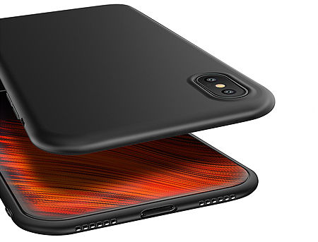 680011 Husa Screen Geeks Solid Apple iPhone XS, Black (чехол накладка в асортименте для смартфонов Apple iPhone)