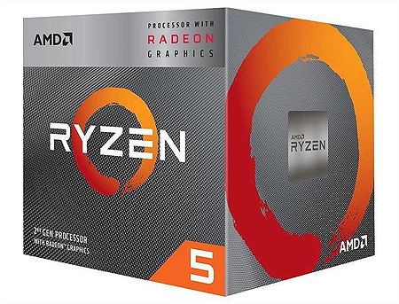 CPU AMD Ryzen 5 3400G 4-Core, 8 Threads, 3.7-4.2GHz, Unlocked, Radeon Vega 11 Graphics, 11 GPU Cores, 6MB Cache, AM4, Wraith Spire Cooler, BOX