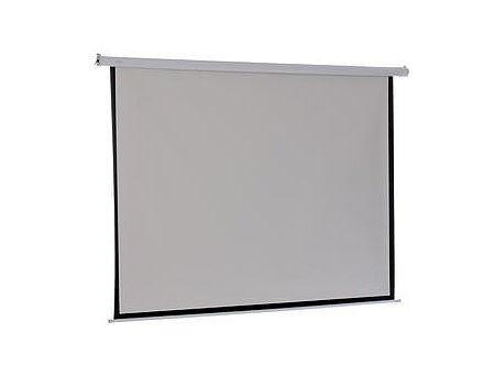 "Electric Projection Screen FS-ES 1:1, 84"" x 84"" / 213cm x 213cm, Cable remote Control, Matte White"