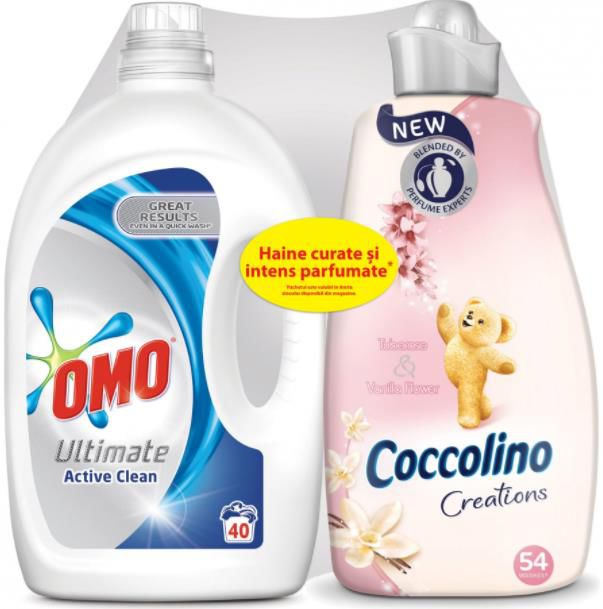 Detergent Rufe Omo 1655 Set Omo Ultimate Lichid Active Clean 28 L