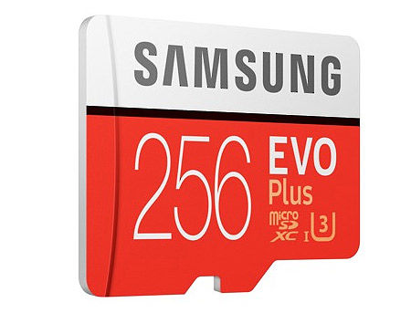 256GB Samsung EVO Plus MB-MC256GA/RU microSDXC (Class 10 UHS-I) with Adapter, Read:up to 100MB/s, Write:up to 90MB/s (card de memorie/карта памяти)