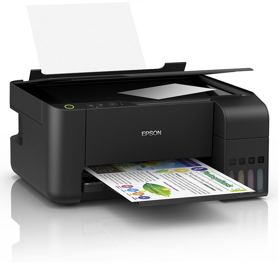Epson EcoTank L3110 Color Printer/Copier/Color Scanner, A4, 5760 x 1440 dpi, 33 ppm monochrome/ 15ppm color, USB 2.0, Black ink (8100 pages 5%),  color ink (6500 pages 5%), no cable USB