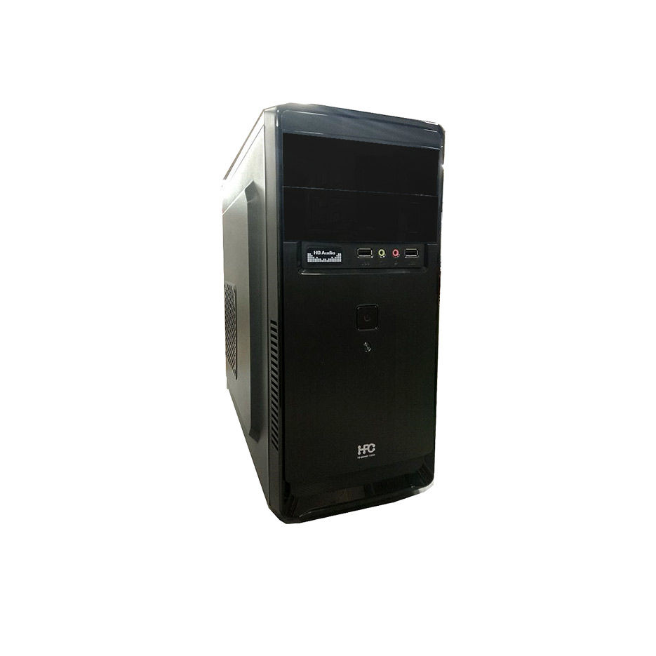 Корпус для компьютера Case Miditower mATX HPC D-03 Shiny Black, 500W, 12cm fan, 24 pin, 2xSATA cables, 2xUSB 2.0 & Audio (carcasa/корпус)
