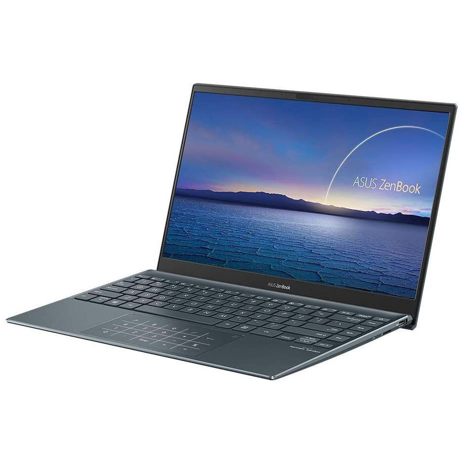 "Ноутбук 13.3"" ASUS ZenBook 13 UX325JA Pine Grey, Intel i5-1035G1 1.0-3.6Ghz/8GB/SSD 512GB M.2 NVMe/Intel UHD Graphics/WiFi 6 802.11ax/BT5.0/HDMI/HD WebCam/Illum. Keyb./Number Pad/13.3"" IPS LED Backlit FullHD NanoEdge (1920x1080)/Windows 10 UX325JA-EG035T"
