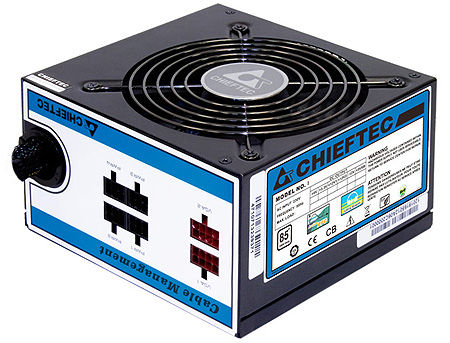 750W ATX Power supply Chieftec CTG-750C, 750W, 120mm silent fan, 85 Plus, ATX 12V 2.3, EPS 12V, Cable Management, Active PFC (Power Factor Correction)