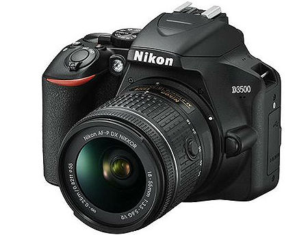Nikon D3500 kit AF-P 18-55VR black, 24,2Mpx CMOS 23,2x15,4mm; EXPEED 4; ISO 100-25600; Full HD(60p); LiveView; 5 frames