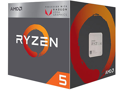 CPU AMD Ryzen 5 2600X 6-Core, 12 Threads, 3.6-4.2GHz, Unlocked, 19MB Cache, AM4, Wraith Spire Cooler, BOX