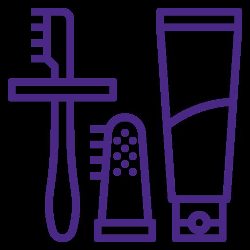 Elastice, periuțe de dinți, burete și pietre de baie