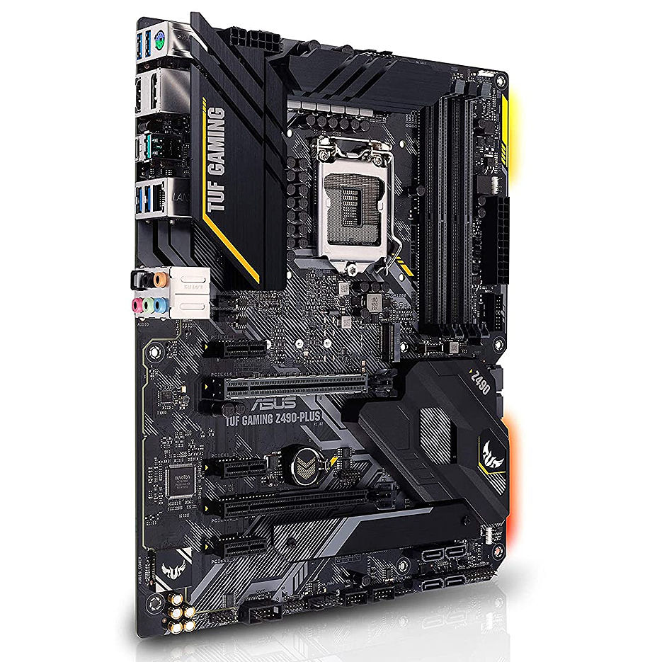 Placa de baza ASUS TUF GAMING Z490-PLUS Intel Z490, LGA1200, Dual DDR4 4800MHz, 2xPCI-E 3.0/2.0 x16, DP 1.4/HDMI 1.4b, AMD 2-Way CrossFireX, USB3.2 Type-C, SATA RAID 6Gb/s, 2 x M.2 x4 Socket, Intel Optane, SB 8-Ch., GigabitLAN, AURA Sync
