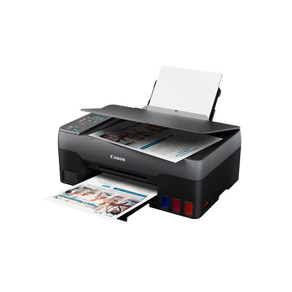 МФУ струйное MFD CISS Canon Pixma G2460, Color Printer/Scanner/Copier, A4, Print 4800x1200dpi_2pl, ISO/IEC 10.8/6.0 ipm, 64-275g/m2, LCD display_6.2cm, 100 sheets, USB 2.0, 4 ink tanks:GI-41 B/M/Y/C Black: 6,000 pages (Economy mode 7,600 pages) Colour: 7,700 p.