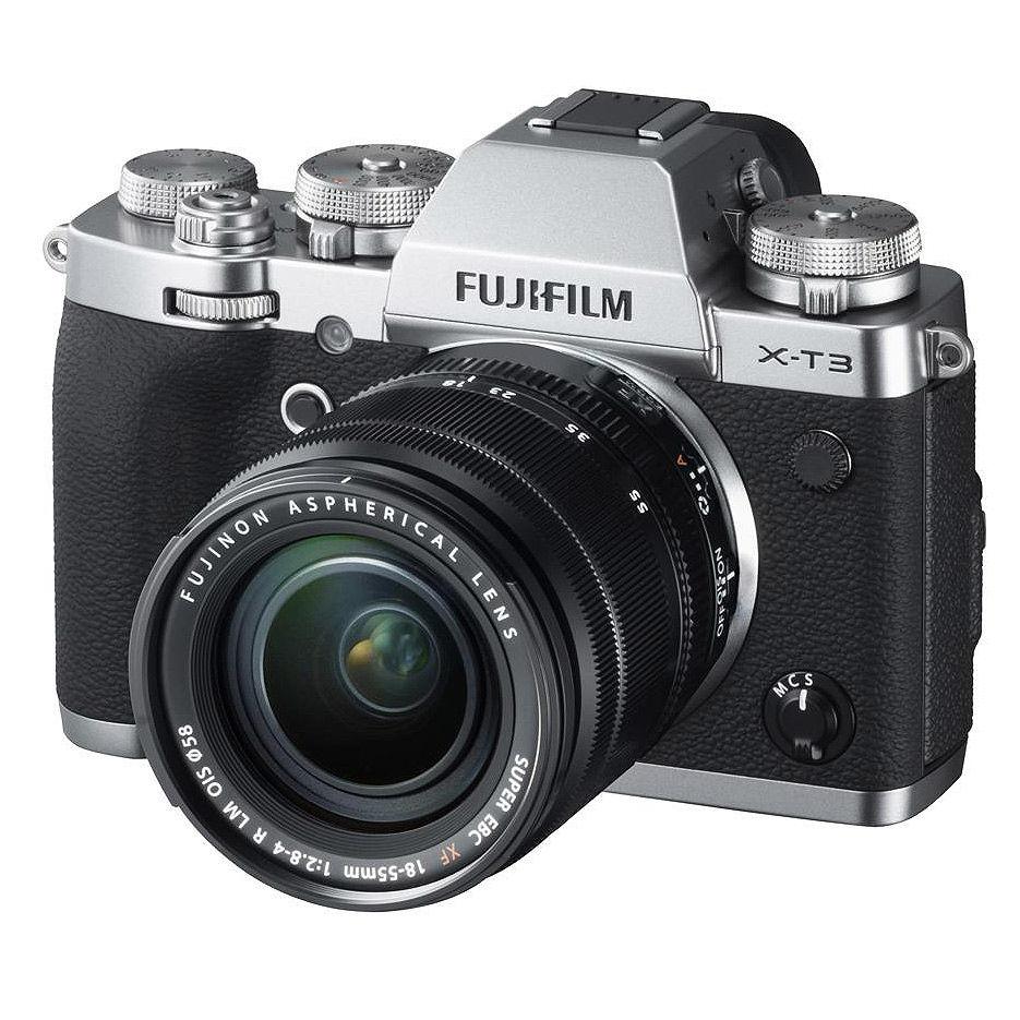 Fujifilm X-T3 silver XF18-55mm F2.8-4 R LM OIS kit, Mirrorless Digital Camera Fujifilm X System (Aparat fotografic)