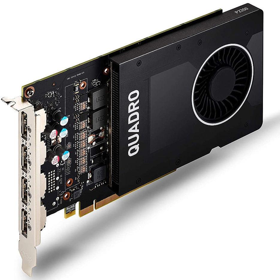 PNY NVIDIA Quadro P2200 5GB GDDR5, 160-bit, PCI Express 3.0 x16, 4xDisplay Port 1.4 (VCQP2200-PB)