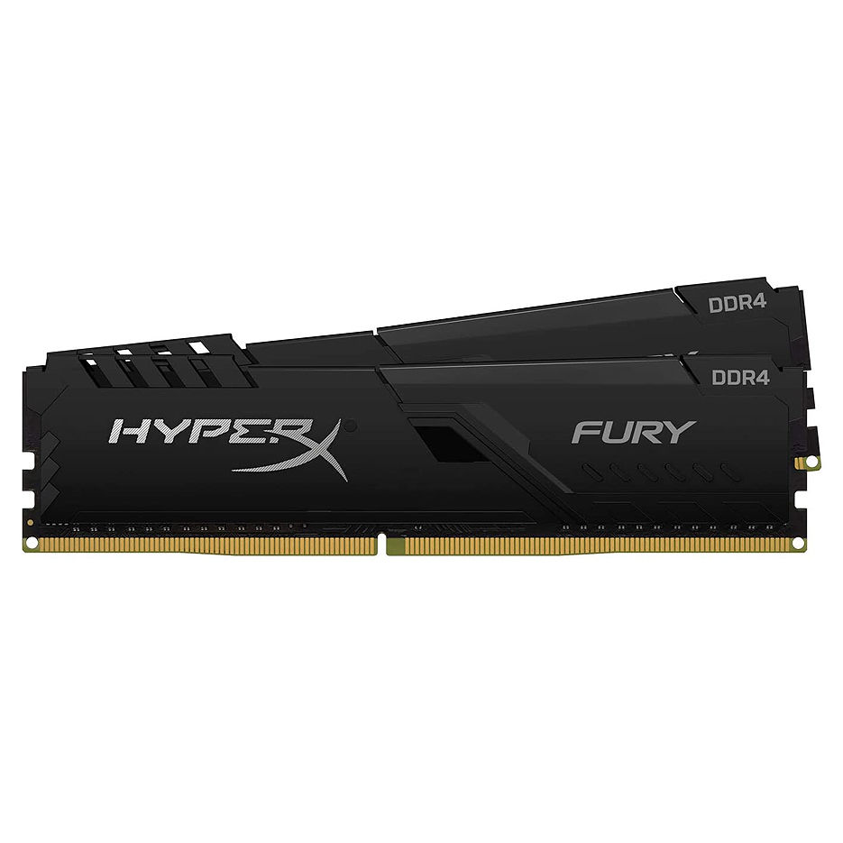32GB DDR4 Dual-Channel Kit Kingston HyperX FURY Black HX432C16FB4K2/32 (2x16GB) DDR4 PC4-25600 3200MHz CL16, Retail (memorie/память)