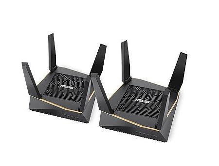 ASUS AiMesh AX6100 WiFi System (RT-AX92U 2 Pack), WiFi 6 802.11ax Mesh System, AX6100 400 Mbps+867 Mbps+4804 Mbps, dual-band 2.4GHz/5GHz-1/5GHz-2 for up to super-fast 6.1Gbps, WAN:1xRJ45 LAN: 4xRJ45 10/100/1000, USB 2.0&USB 3.1