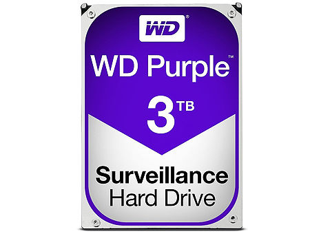 "3.5"" HDD 3TB Western Digital Purple (Surveillance HDD) WD30PURZ, 5400 RPM, SATA3 6GB/s, 64MB (hard disk intern HDD/внутренний жесткий диск HDD)"